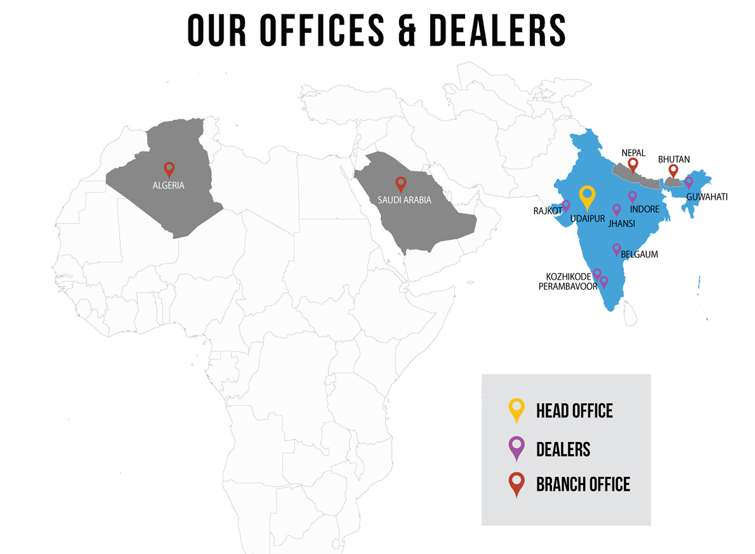 Mewar Hi-Tech Offices & Dealers